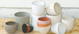 neutral pottery from Modern Foliage Designs