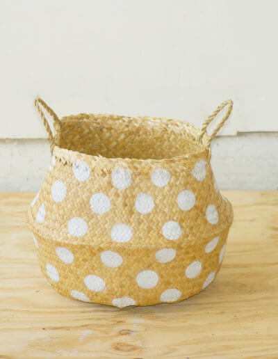 Maria Polka Dot Puff Basket